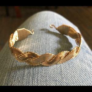 Ronaldo Love Knot Wide 14K Gold Wire Bracelet~7